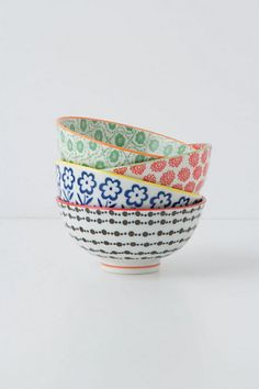 Playing with your food is allowed with these whimsical patterned bowls