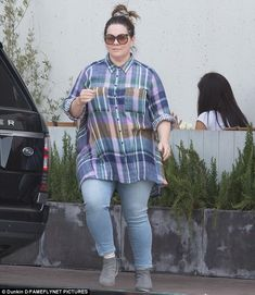 Keeping it casual: Melissa McCarthy opted for a laid back look when she ran errands in Los...
