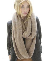 Modèle snood mohair point mousse - Modèles tricot accessoires - Phildar
