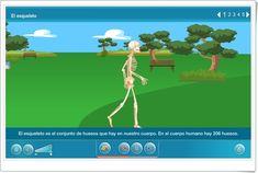 """El cuerpo en movimiento: """"El esqueleto"""" (Aplicación interactiva de Ciencias Naturales de Primaria)"""