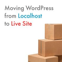 Moving Wordpress from local host to live -  http://www.wpbeginner.com/wp-tutorials/how-to-move-wordpress-from-local-server-to-live-site/