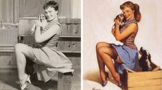 pin up girl - before and after