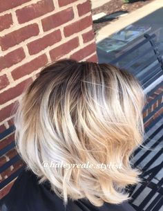 Icy blonde with a perfect shadow root                                                                                                                                                                                 More