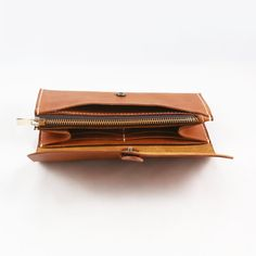 leather wallet gift for her gift for mom brown от OrisDesigns