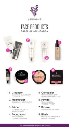 Ever wonder what face products to put on first? Here's a cheat sheet. www.pacificalashgirl.com