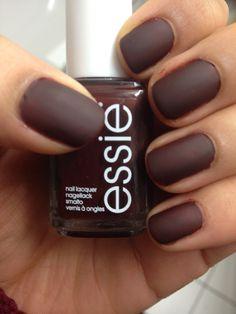 #essie #choclate #brown #matte