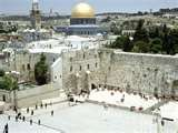 Western Wall and Gold Dome Mosque, Jerusalem, Israel