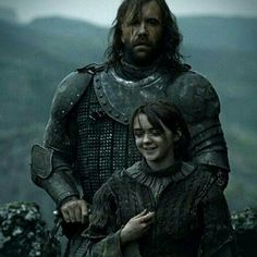 """Sandor Clegane (Rory McCann) and Arya Stark (Maisie Williams) from """"Game of Thrones"""""""