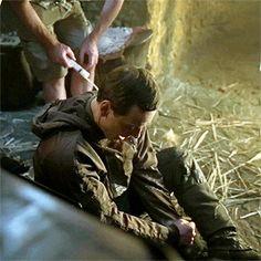 Michael Fassbender behind the scenes of Alien: Covenant