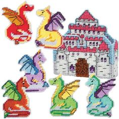 Craftways® Dragon Coasters & Princess Castle Holder Plastic Canvas Kit Was: $18.00                     Now: $14.99