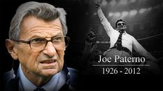 The Penn State Football rally I attended a few years ago still stands as one of the coolest things I've ever done...I briefly spoke to Paterno, and I saw nothing but class.