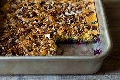 Brooke Dojny's Blueberry Snack Cake with Toasted Pecan Topping from Food52