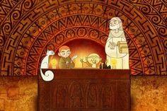 La Abadía de Kells  La Abadía de Kells, hundida en un antiguo bosque sagrado, es el corazón oculto del Reino. Pese a ser un Priorato independiente, la abadía está gobernada por Brendan MagCrídhe, primo hermano de Beth. Este fue educado en la Abadía por el Abad Cellach y el Hermano Aidan de Iona, convirtiéndose en un maestro de los libros miniados.