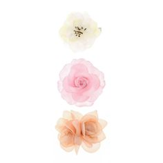 3 Pack Traditional Flower Hair Clips