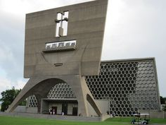 St. Joseph, Minnesota - st-Johns University, Abbey Church and Bell Tower designed by the modernist architect Marcel Breuer