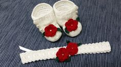 Baby Girl Booties Headband Baby Booties Baby Headband by barreez