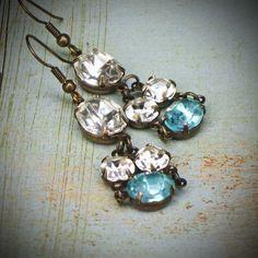Handmade earrings from vintage stones.