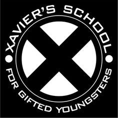 Xavier's School for Gifted Youngsters Logo X-Men Marvel Avengers Sticker Die Cut Decal