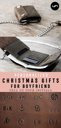 Christmas Gifts for Boyfriend. Personalized gifts is the best christmas gifts ideas to show how much they mean to you. Xmas gifts for men. Best gifts for husband. Gifts for boyfriend Unique, handmade leather biker trifold wallet. Xmas Gifts For Dad, Best Gift For Husband, Christmas Gifts For Boyfriend, Gifts For Your Boyfriend, Personalized Christmas Gifts, Best Christmas Gifts, Gifts For Friends, Gifts For Him, Husband Gifts
