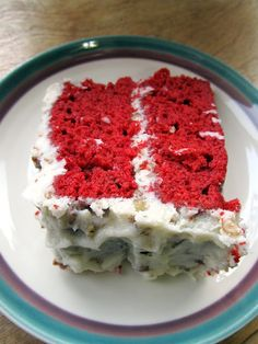 Red Velvet Cake with Coconut Pecan Frosting