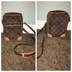 Louis Vuitton Amazone Crossbody My most prized possession!! my very first Louis  I'm listing it so high because I am looking for TRADES ONLY!! I do NOT want to sell this! I don't even want to give it up, but I will trade it for other authentic LV! (Speedy Damier Azur 35 preferably) Inside is in pristine condition, monogram print is like new, handle has no visible signs of wear that I have seen yet. Only noticeable wear to the bag is on the tan corners in 2nd pic. Please comment if you have…