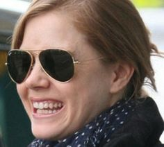 Amy Adams wearing Ray Ban aviators