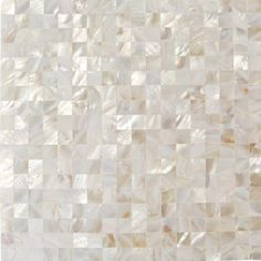 Ivy Hill Tile Mother Of Pearl Serene White Squares 12 in. x 12 in. x 2 mm Seamless Pearl Shell Glass Wall Mosaic - The Home Depot Splashback Tiles, Mosaic Tiles, Wall Tiles, Kitchen Backsplash, Backsplash Ideas, Marble Mosaic, Mosaic Bathroom, Tile Ideas, Neutral Bathroom Tile