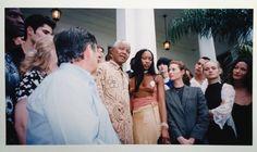 Lisa Mitchell with Nelson Mandella, Naomi Campbell & Christy Turlington