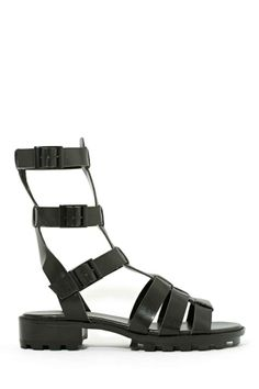 Shoe Cult Joan Gladiator Sandal - Black