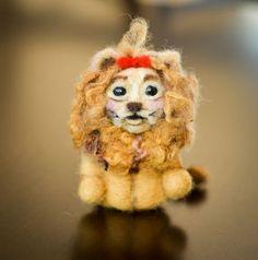 Needle Felted Wizard of Oz Cowardly Lion Collectible Wool Art Felting on Wanelo