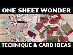 """Demonstrator Aubrey demonstrates the """"One Sheet Wonder"""" technique. You will see how you can make 12 cards using one sheet of designer series pap. Card Making Templates, Card Making Tips, Card Making Techniques, Simple Christmas Cards, Christmas Paper, One Sheet Wonder, Christmas Card Template, Easel Cards, Some Cards"""