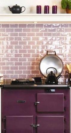 dreamy lavender subway tile kitchen backsplash