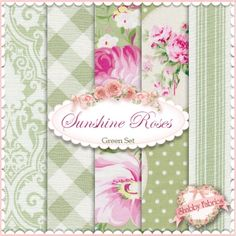 Sunshine Roses Green 5 FQ Set by Tanya Whelan for Free Spirit http://www.shabbyfabrics.com/Sunshine-Roses-Green-5-FQ-Set-By-Tanya-Whelan-For-Free-Spirit-P22923.aspx?categoryid=1272 #weekendprojectwednesday