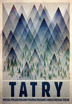 Ryszard Kaja, Tatry, Tatra Mountains, Polish Promotion poster