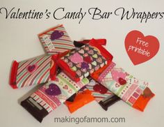 Printable Valentine's Day Candy Bar Wrappers