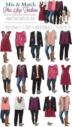 Travel clothes women plus size capsule wardrobe 60 Ideas - Mode - New Outfits, Casual Outfits, Cute Outfits, Fashion Outfits, Pink Outfits, Fall Outfits, Mix And Match Fashion, Matches Fashion, Pink Fashion