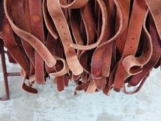 Cowboysbelt - We wash, we tan, we stretch, we stitch and we don't shy away from using cement mills to tumble dry our belts.
