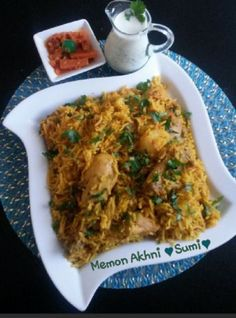 Memon Akhni recipe by Sumayah posted on 08 Sep 2017 . Recipe has a rating of by 2 members and the recipe belongs in the Rice Dishes recipes category Indian Food Recipes, Real Food Recipes, Chicken Recipes, Cooking Recipes, Ethnic Recipes, Indian Foods, Buttermilk Chicken, Buttermilk Recipes, Rice Dishes