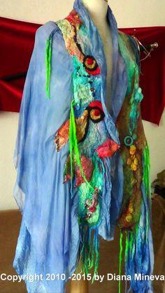 Gypsy stile Shawl Large scarf Double layered  Nuno by rafaelart