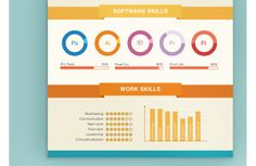 Infographic CV by Noor Akar, via Behance