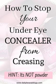 Applying under eye concealer is an essential part of makeup application if you want to get that full glam look when you do your makeup. But that full glam makeup look can be easily ruined when your undereye concealer starts to crease. Do you struggle with undereye concealer creasing? Click above to learn the secret trick to stop undereye concealer from creaming. #undereyeconcealer #concealertips #makeuptipsconcealer #concealertipsundereye #BumpsUnderEyes Under Eye Creases, Bumps Under Eyes, Under Eye Makeup, Glam Look, Glam Makeup Look, Makeup Looks, Wayne Goss, Best Concealer, Under Eye Concealer