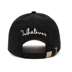 Forever21 Whatever Embroidered Dad Cap (55660 PYG) ❤ liked on Polyvore featuring accessories, hats, embroidered caps, brim cap, embroidery hats, cotton hat and adjustable caps