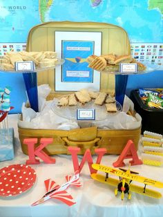 """Photo 5 of 74: Airplanes / Birthday """"Aviator Captain Knox Wells 2nd Birthday"""" 