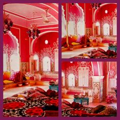 Pink Indian theme bedroom