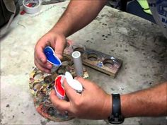 Three color resin pen blank making - YouTube