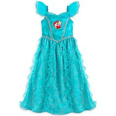 162971347 Store Deluxe Ariel The Little Mermaid Nightgown Size XS 4 4T 2016 Ariel The  Little Mermaid