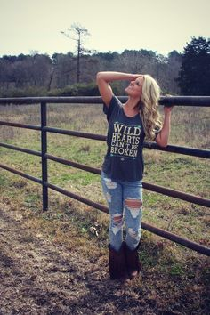 Wild Hearts Cant Be Broken Tee - Gypsies N Outlaws