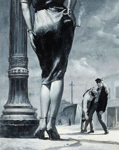 Women Who Prowl for Men pulp paperback illustration - Robert Emil Schulz