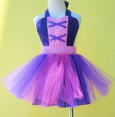 apron RAPUNZEL TUTU apron for girls fun for special occasion or birthday party dress up costume via Etsy