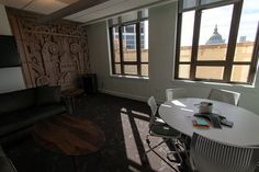 - Local photographer Troy Holden goes inside the social network's new digs on Market Street. Corporate Office Design, Modern Office Design, Office Designs, Office Interior Design, Office Interiors, Commercial Office Design, Startup Office, Industrial Office Design, Art Deco Buildings